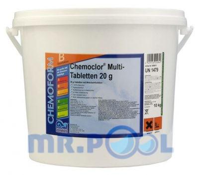 Комплексное средство для дезинфекции бассейна медленный хлор в таблетках (20 г)