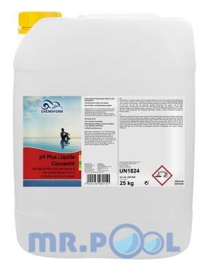 Жидкое средство для повышения уровня pH воды в бассейне рН Плюс
