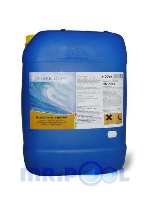 Жидкий активный кислород против водрослей и для дезинфекции воды Аквабланк