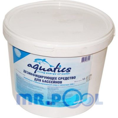 Медленный стабилизированный хлор в таблетках (200г), 5 кг