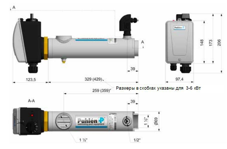 1 Elektronagrevatel 18 Kvt S Datchikom Potoka Pahlen 13981418