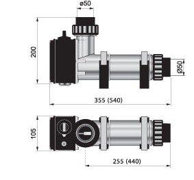 1 Elektronagrevatel Plastkorpus 18 Kvt S Datchikom Potoka Pahlen 141605