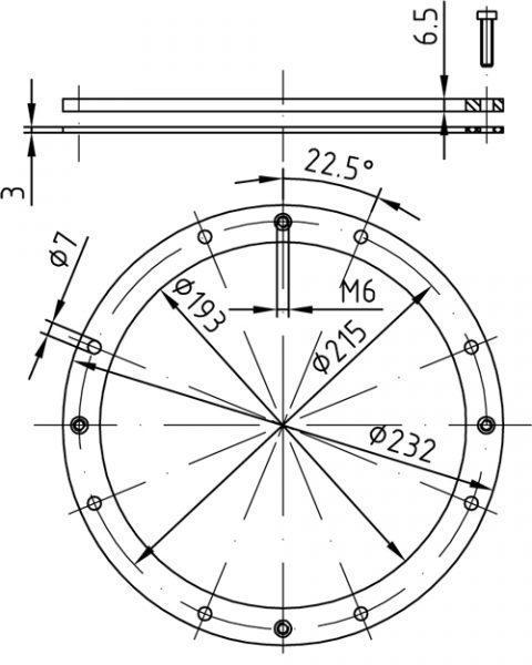 1 Flanec Dlya Zakladnoj Nishi Iz Bronzi K Prozhektoram Vitalight O 270 Mm 4060050