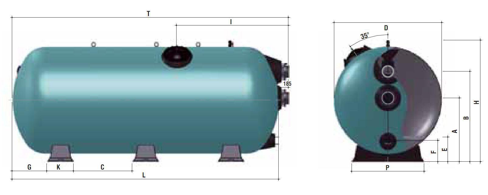 O 2400 мм
