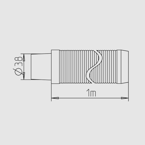 8 п.м) d=38 мм для Ocean Vac 4FUN PR + мешок