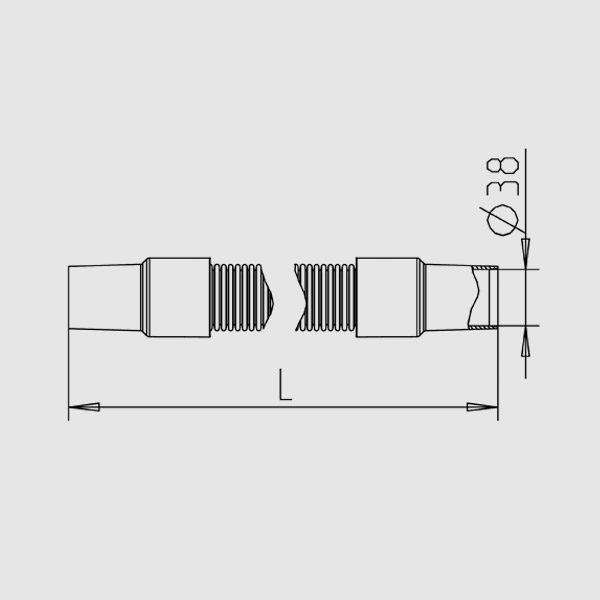 9 м с эластичными муфтами D38 мм