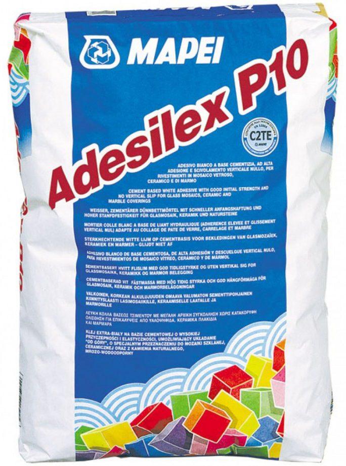 ADESILEX P10, белый клей рос. пр-ва д/мозаичн. витражей, плитки, мрамора, 25 кг