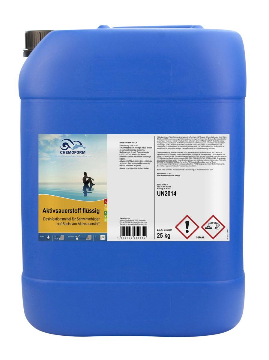Активный кислород для дезинфекции воды в бассейнах на основе пероксида водорода