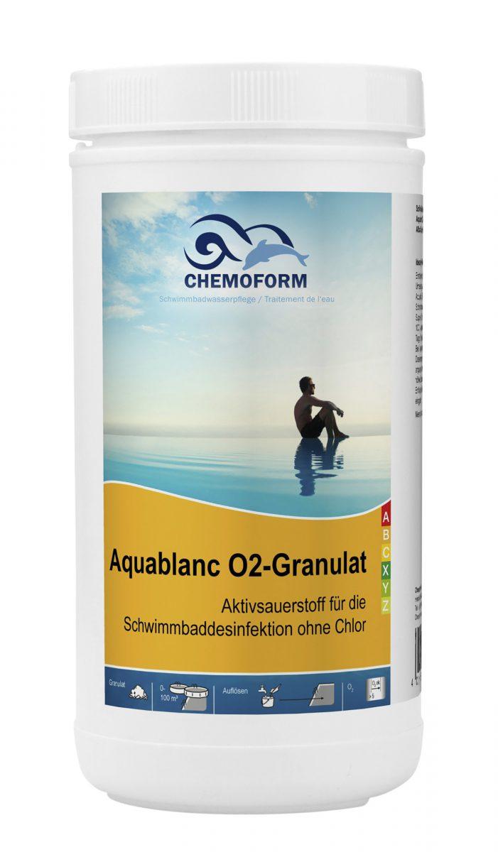 Активный кислород в гранулах для дезинфекции воды в бассейне Аквабланк О2
