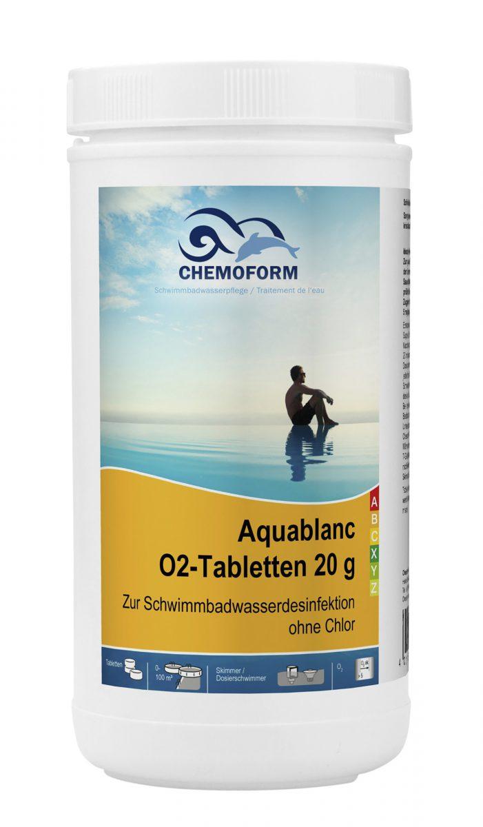 Активный кислород в таблетках для дезинфекции воды в бассейнах Аквабланк О2 (20 г), 1 кг