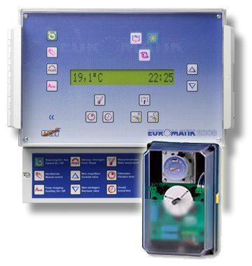 Автоматизированный блок управления фильтрацией и обратной промывкой EUROMATIK-2000 с очисткой перелив. желоба