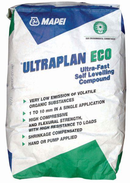 Быстросхватывающаяся самовыравнивающаяся цементная шпаклевка ULTRAPLAN ECO, 23 кг