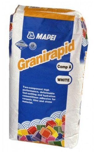 Быстросхватывающийся клей для плитки GRANIRAPID компонент A, 22,5 кг