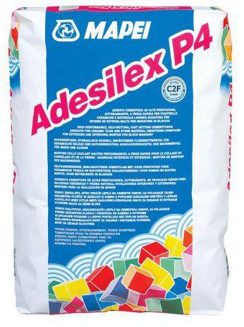 Быстросхватывающийся плиточный клей ADESILEX P4, для беспустотной укладки, 25 кг