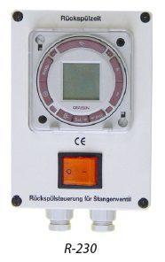 Блок управления обратной промывкой гидроклапанами R-230-DZ (по времени и давлению)