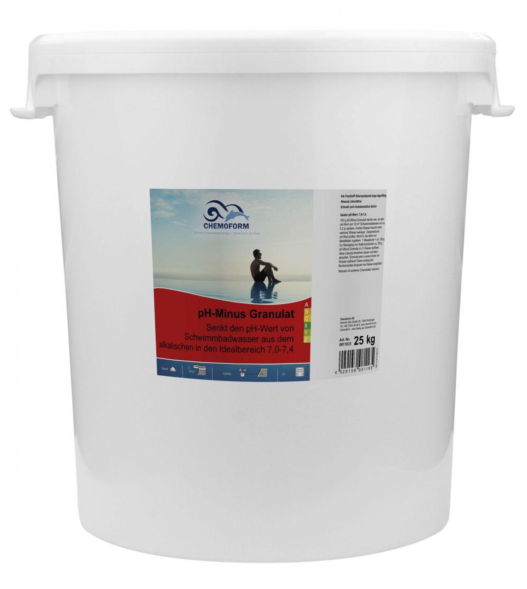 Cредство для понижения уровня PH воды в бассейне PH Mинус гранулированный, 25 кг