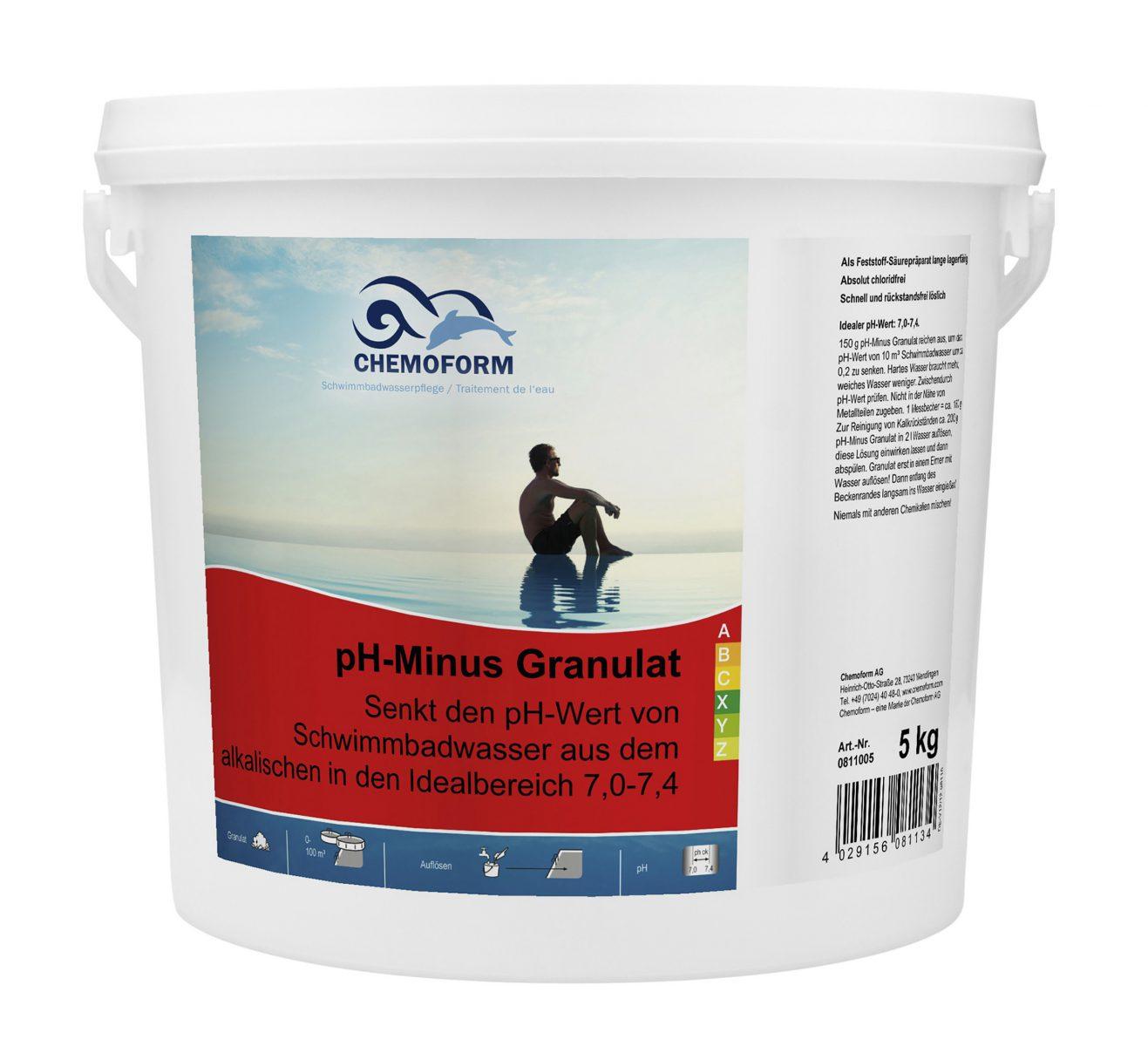 Cредство для понижения уровня PH воды в бассейне PH Mинус гранулированный, 5 кг