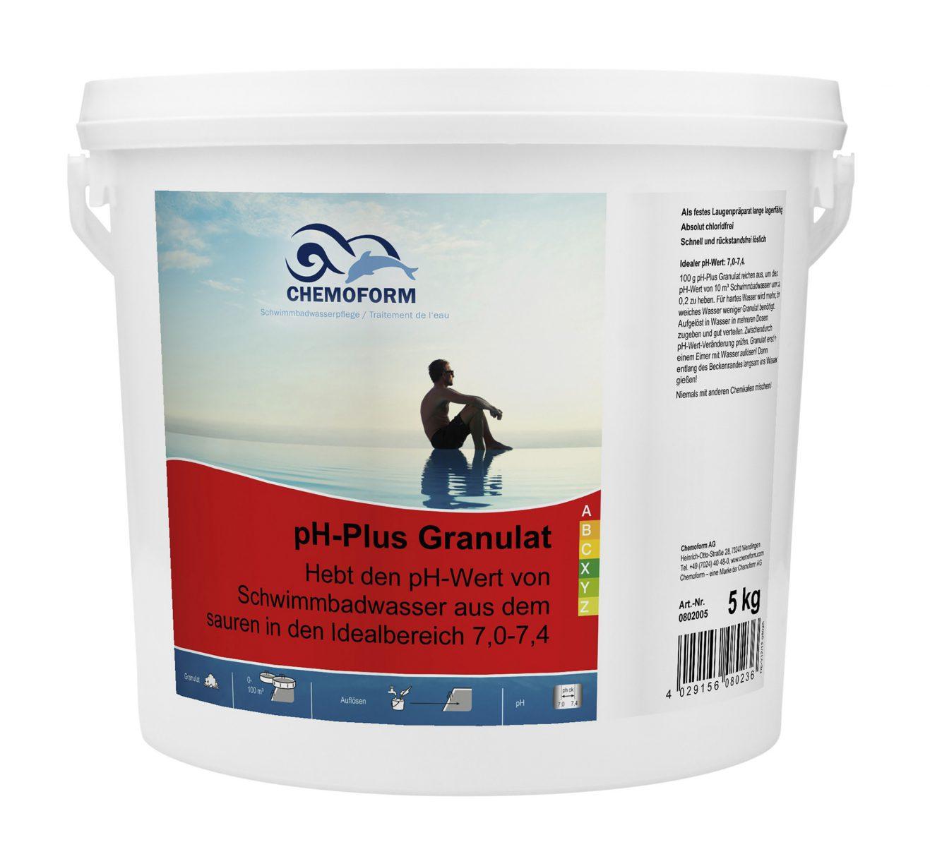 Cредство для повышения уровня PH воды в бассейне PH Плюс гранулированный, 25 кг