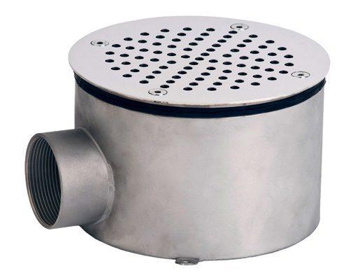 Донный слив круглый, плитка, 165х100, внутр. резьба G2