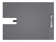 Душевой поддон с линейным сливом Fundo Plano Linea, встроенная система слива, 900 х 900 х 70 мм, короткий желоб