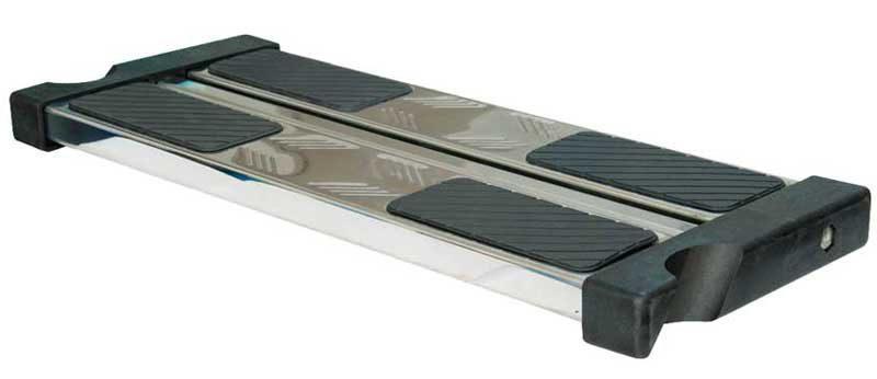 Двойная ступень двойная для лестниц с наклоном, O 42 мм, нерж. сталь AISI 304