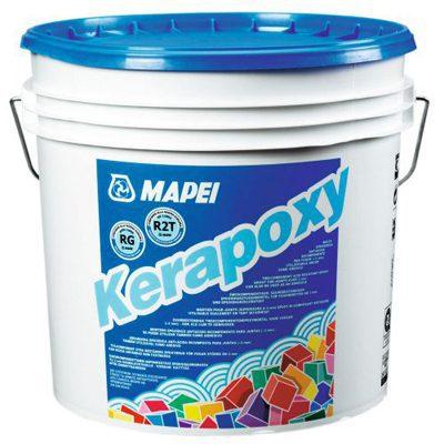 Двухкомпонентный эпоксидный заполнитель швов KERAPOXY №100, белый, 10 кг