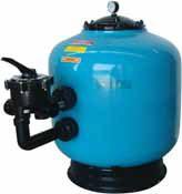 Фильтр FILTEGRA 630 мм, ABS+GELCOAT, подсветка, с боковым 6-ти поз. клапаном 11/2″,15 м3/ч