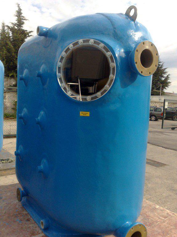 Фильтр гибридный Pacific-010, S=1,0 м2, 1040х2200х1240 мм, H засыпки — 1200 мм, (дюзовое дно)