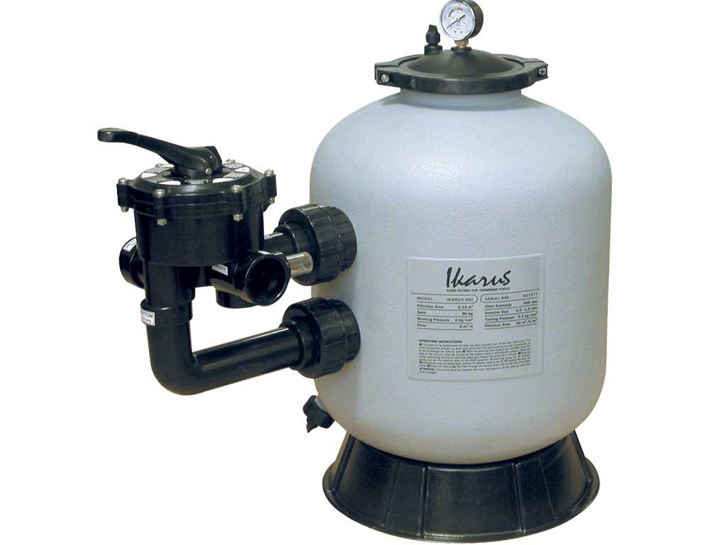 Фильтр IKARUS PE 450 мм, с верхним 6-ти поз. клапаном 11/2″, 8,0 м3/ч