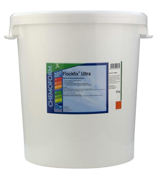 Флокулянт для удаления взвешенных частиц в воде бассейна Флокфикс Ультра, 25 кг