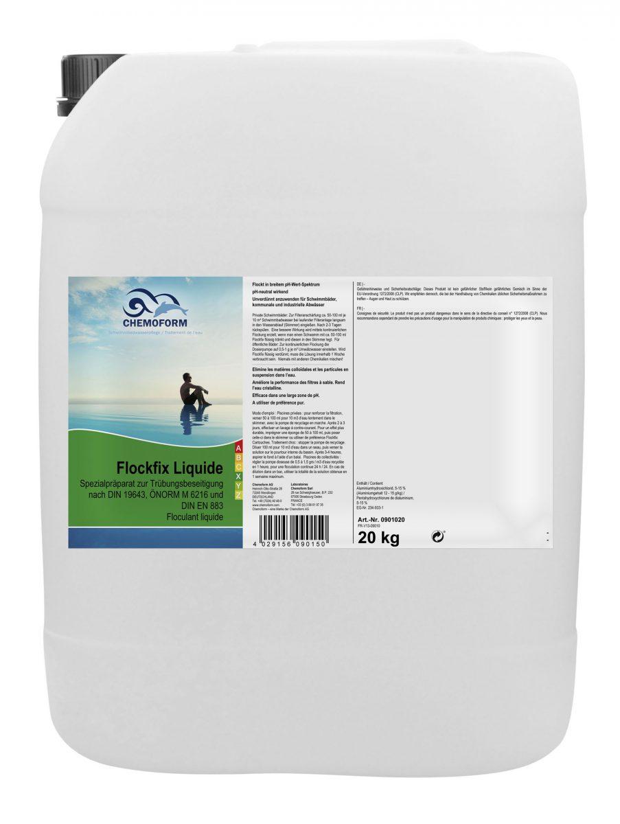 Флокулянт жидкий для удаления взвешенных частиц в воде бассейна Флокфикс, 30 л