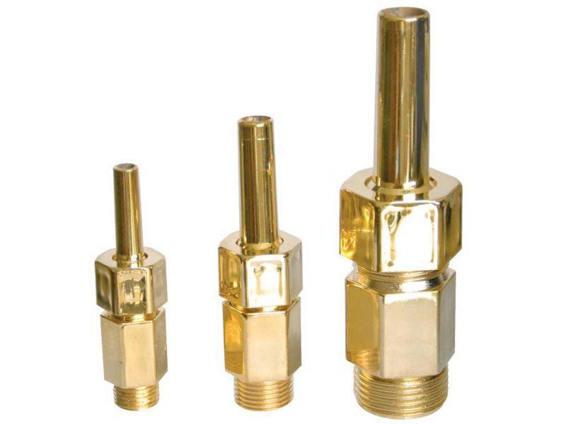 Форсунка фонтана Finger 3-6T, 3/8″, O 6 мм, пластик позолоченный