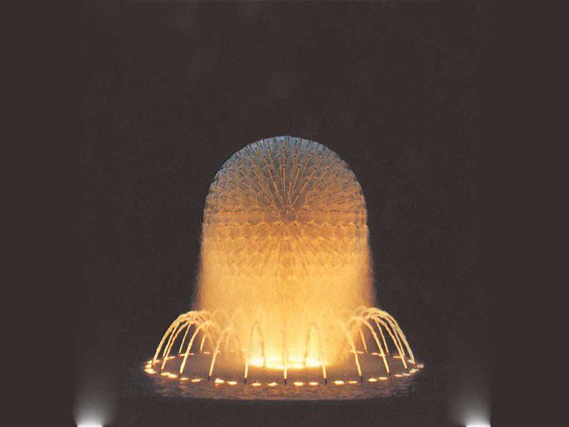 Форсунка фонтана Water Sphere 1500, O 1500 мм, полусфера, нерж сталь
