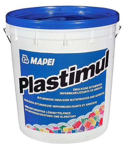 Гидроизоляционная клеевая битумная эмульсия PLASTIMUL, 12 кг