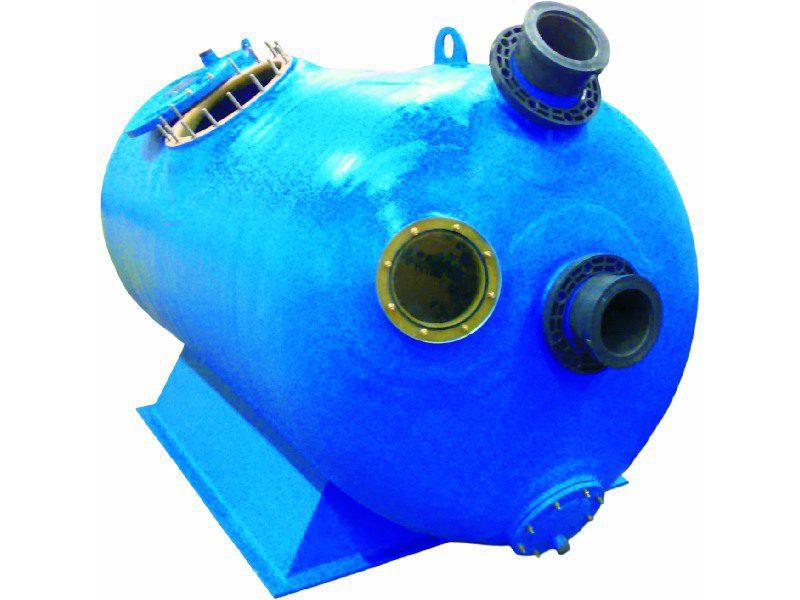 Горизонтальный фильтр GRP Gorizontal 240, D=2400 мм, 455 м3/ч