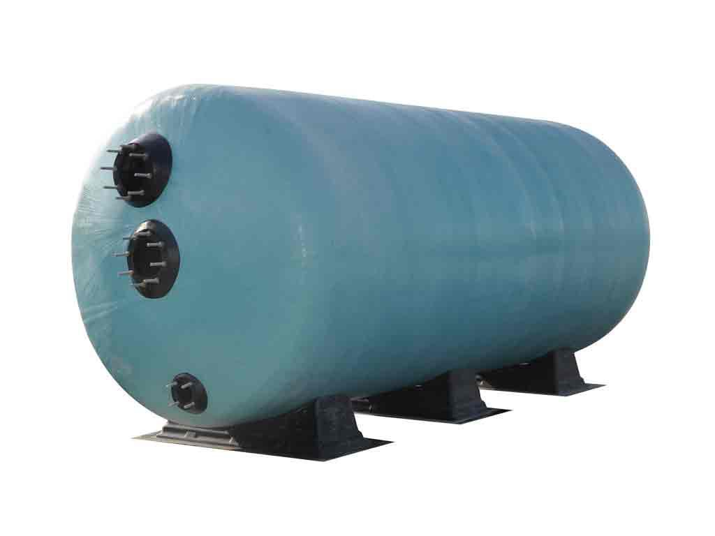 Горизонтальный фильтр Turbidron, O 1200 мм, L=2500 мм, 80 м3/ч