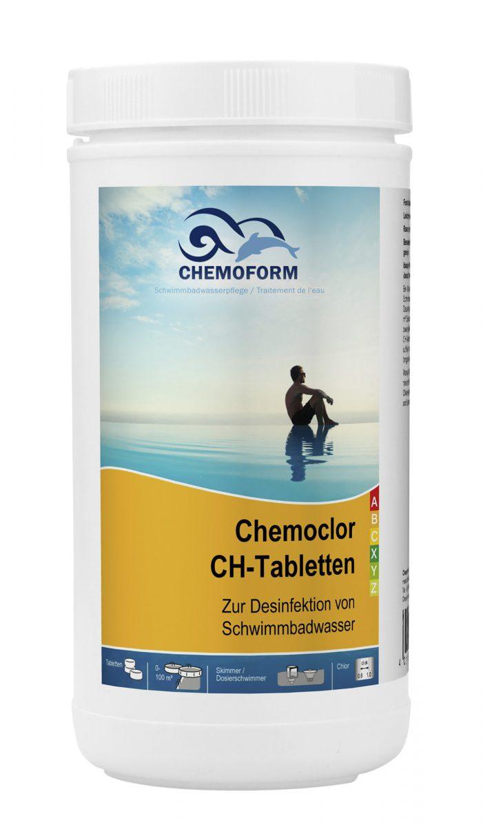 Хлор в таблетках для дезинфекции воды в бассейне и питьевой воды Кемохлор СН, 1 кг