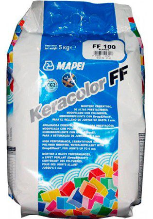 KERACOLOR FF № 112 серый, затирка для плитки до 6 мм, 5 кг