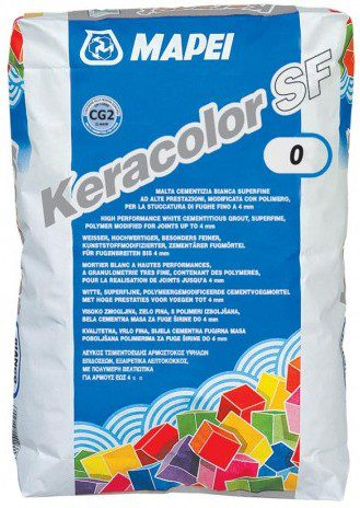 KERACOLOR SF № 100 белый, затирка для плитки до 6 мм, 22 кг