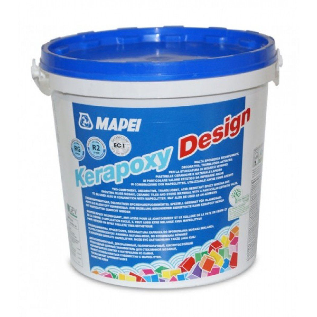 KERAPOXY DESIGN №733 глянцевый красный,2-х комп. эпоксид. герметик, 3 кг