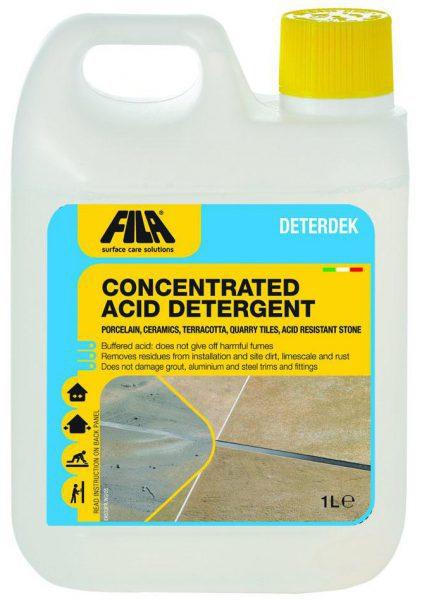 Кислотное моющее средство DETERDEK для очистки поверхностей после строительных работ 1 л