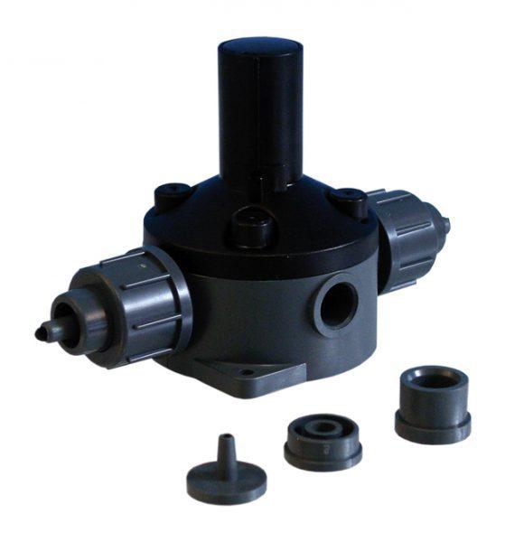 Клапан поддержания давления DN 4/8, из PVC, для настенного монтажа, с подсоединением 6/4 и 12/6 мм