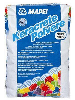 Клей для плитки KERACRETE, белый компонет A, 25кг