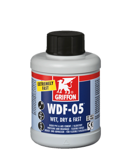Клей Griffon для гибких труб ПВХ WDF-5 0,5 л  (бутылка с кисточкой)