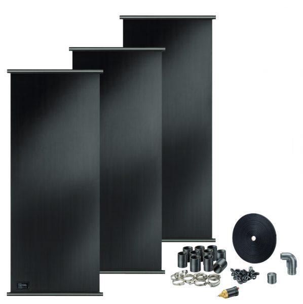 Комплект солнечных панелей Badu BK 370, 4 шт., с аксессуарами