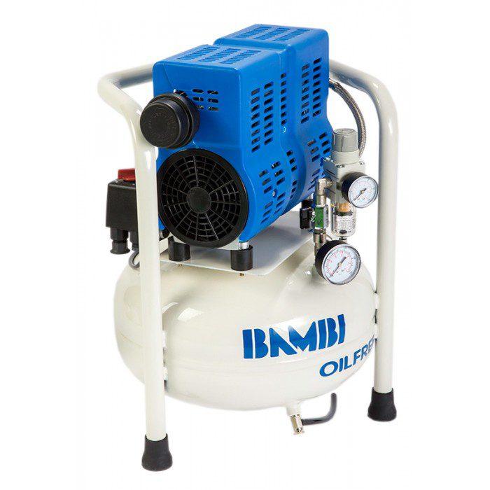 Компрессор Bambi бесшумный безмасляный, 0,55 кВт, объем ресивера 15 л, 54 дБ