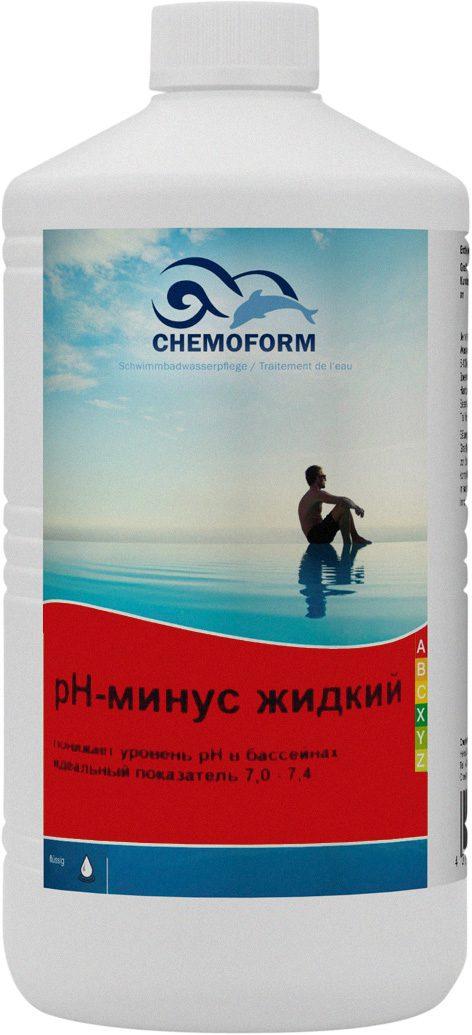Концентрированное жидкое средство для понижения PH в бассейне рН Минус, 1 л