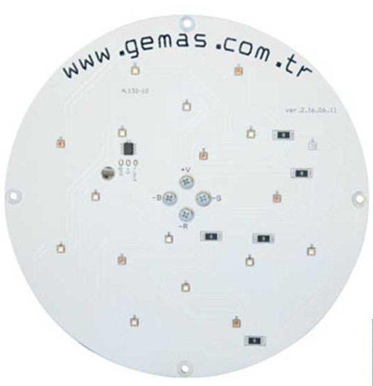 Лампа LED PAR56 цвет RGB — 1638 Lux, со встроенной платой упр-я