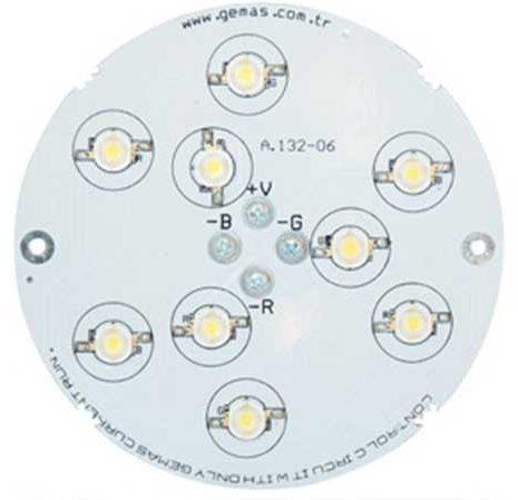 Лампа PAR38, LED Single Color 9, 12.8 Вт, 12 В, 140°, бирюзовый