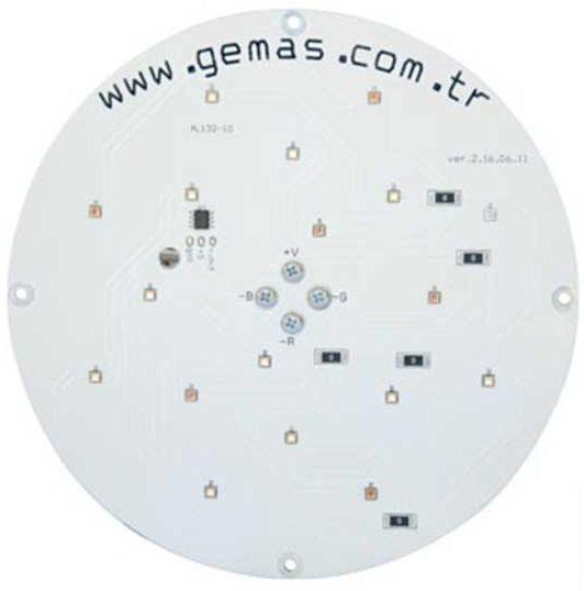Лампа PAR56, LED Rainbow 18, 33 Вт, 24 В, 80°, с встроенной платой управления